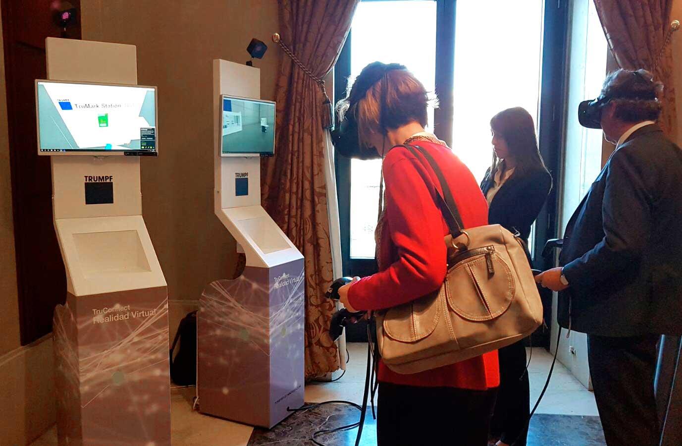 demostración de producto mediante realidad virtual