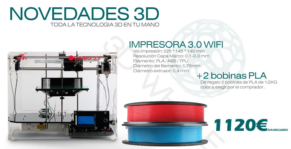 Impresora 3D Wifi con cámara por 1.120€