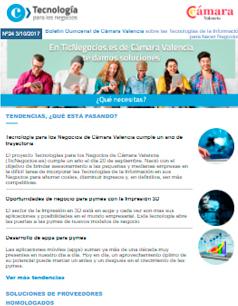 Tecnología para los Negocios de Cámara Valencia cumple un año de trayectoria. Boletín nº 24