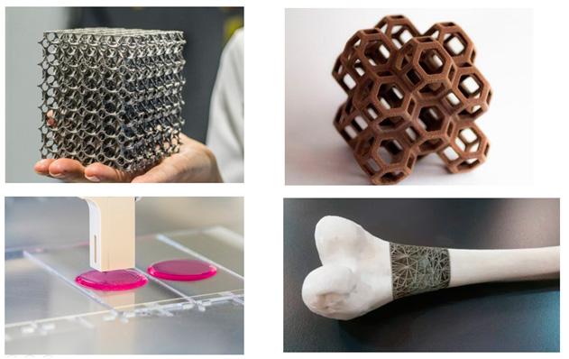 Distintos Objetos elaborados con impresión 3D