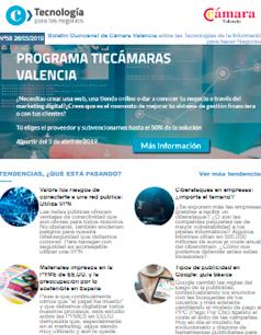 Convocatoria de Ayudas TICCámaras 2019. A partir del 5 de abril. Boletín nº58