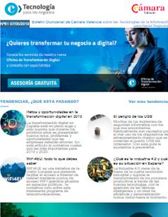 Retos y oportunidades en la transformación digital en 2019. Boletín nº61