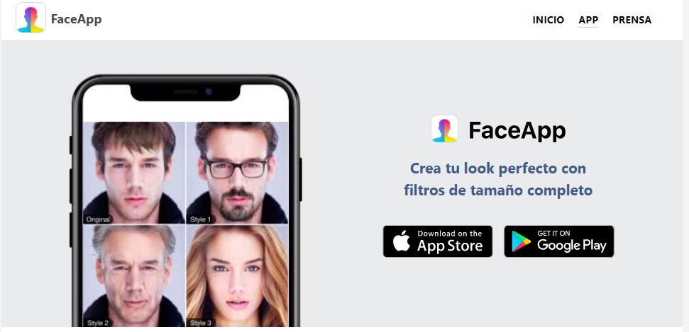 Aplicación FaceApp