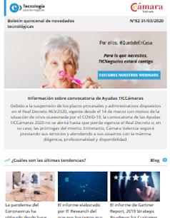 Webinars Cámara Valencia. Disfruta de la mayor oferta de webinars gratuitos y sigue formándote. Boletín nº82