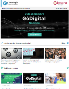 ¡Llegó GoDigital Nacional 2020! Más de 45 expertos para ayudarte a impulsar tu negocio. Boletín nº95