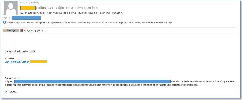 Boletín especial Campañas de phishing suplantando direcciones de correo conocidas por el usuario