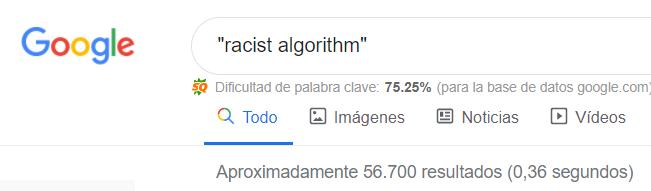 resultados de busqueda racist algorithm