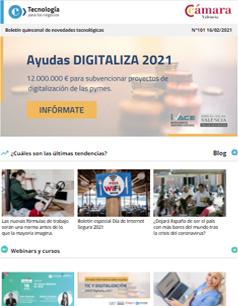 Nuevas ayudas del IVACE para proyectos de digitalización de PYMEs. Boletín nº101