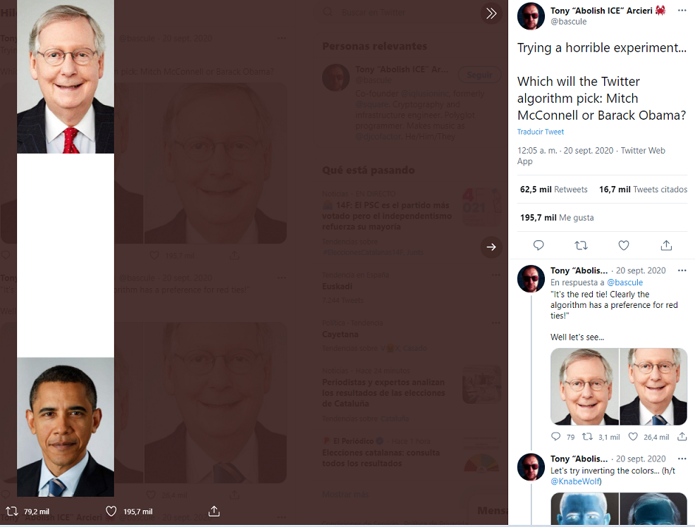 prueba algoritmo racista instagam