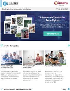 Informes de tendencias tecnológicas, cifras, retos, oportunidades de la digitalización en 10 sectores. Boletín nº102