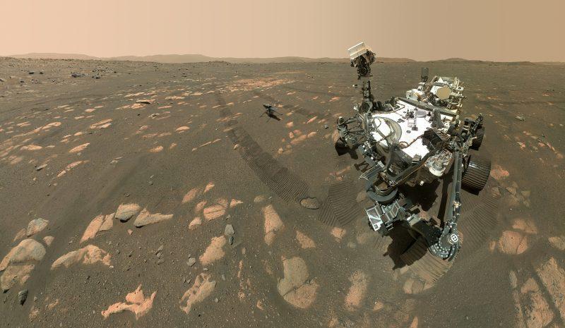 El helicóptero que la NASA utiliza para ayudar al rover Perseverance