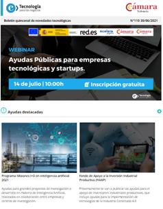 Ayudas públicas para empresas tecnológicas y startups. Boletín nº111
