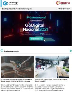 ¡Llega GoDigital Nacional 2021, el evento estrella de digitalización de las pymes! Boletín nº116